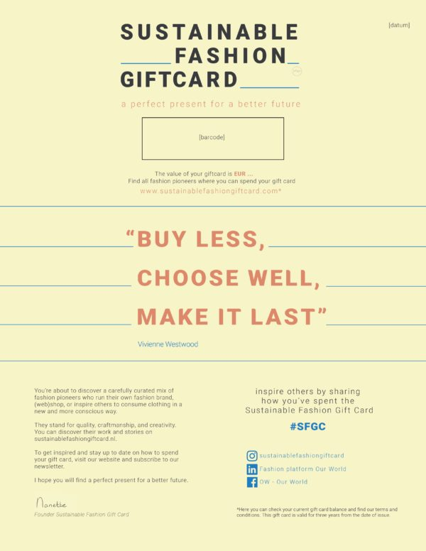Sustainable-fashion-gift-card-kies-eigen-waarde