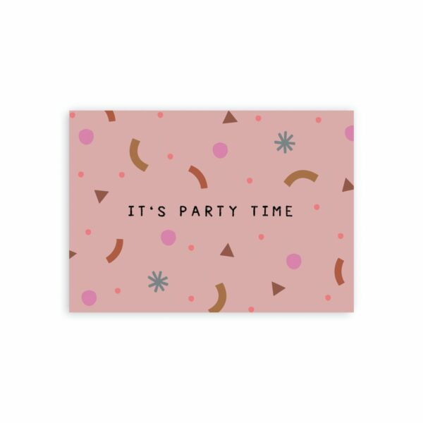 party-time-birthday-duurzame-ansichtkaart